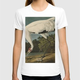 Hooping Crane, Birds of America by John James Audubon T-shirt