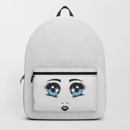 Lady face vector art Backpack