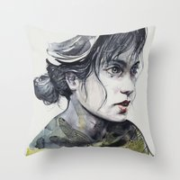 dragonfly Throw Pillows featuring Dragonfly by agnes-cecile