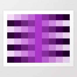 purple fade pattern Art Print