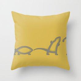 Ichthys Evolution Throw Pillow