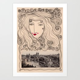 A Gypsy in Paris Art Print