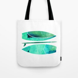 Watercolor Surfboards Tote Bag