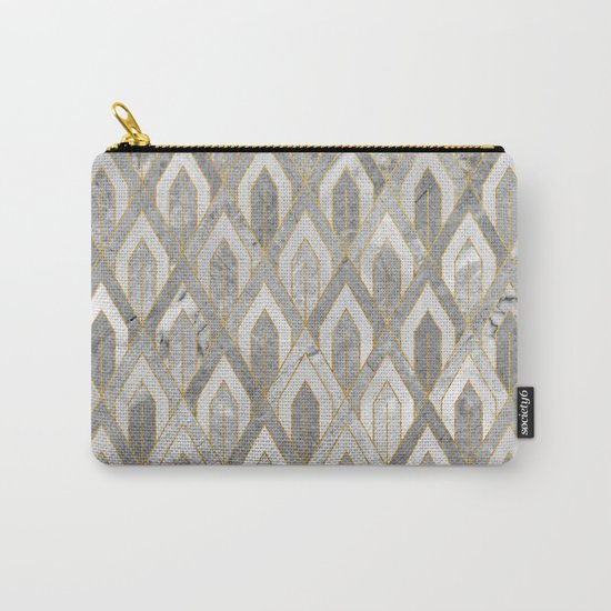 Art Deco Marble Pattern Carry-All Pouch