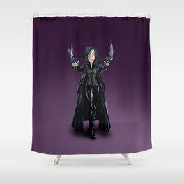 Selene, Vampire Death Dealer Shower Curtain