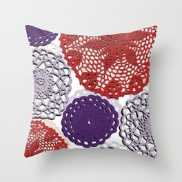 crochet doilies Throw Pillow