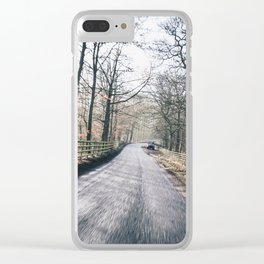 winter lanes in egland Clear iPhone Case