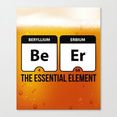 Beer Essential Element Quote Canvas Print