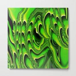 TIDAL WAVE | chartreuse Metal Print