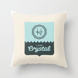 Crystal Lake – Badge Throw Pillow