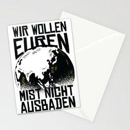 Mist ausbaden Stationery Cards