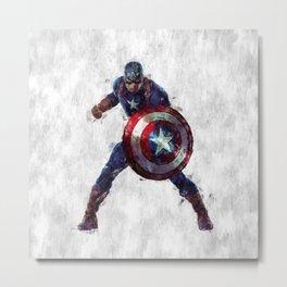 CaptainAmerica Hero Metal Print