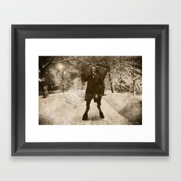 Dark Victorian Portrait: Krampus Framed Art Print