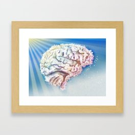 Mind in the Clouds Framed Art Print