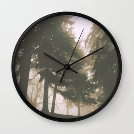 Tree Harem Original Photograph by Rachael Rice Wall Clock