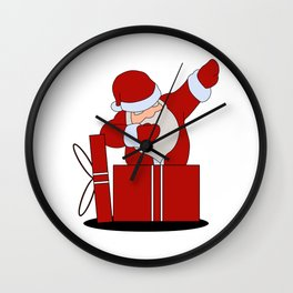 Santa Claus dabbing Wall Clock
