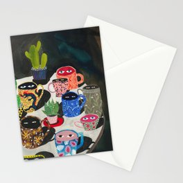 Suspicious mugs Stationery Cards