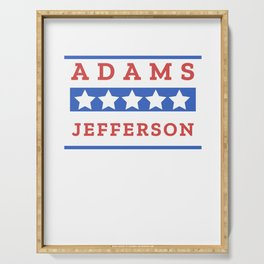 John Adams and Thomas Jefferson Presidential Election Sign Serving Tray