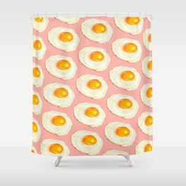 Egg Pattern - Pink Shower Curtain