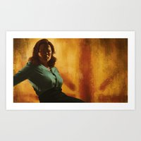 agent carter Art Prints featuring Agent Carter by Celina Hulshof
