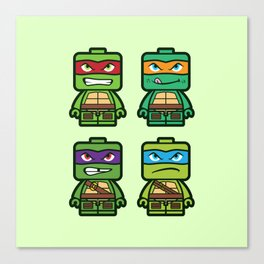 Chibi Ninja Turtles Canvas Print