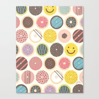donuts Canvas Prints featuring DONUTS! by JONGMEE