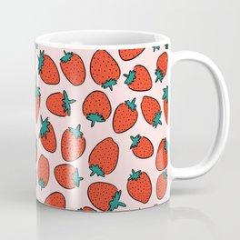 Strawberry cute pink pattern Coffee Mug