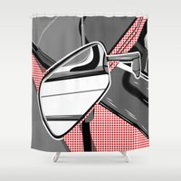 mercedes Shower Curtains featuring Rearview Mirror by Paco Dozier