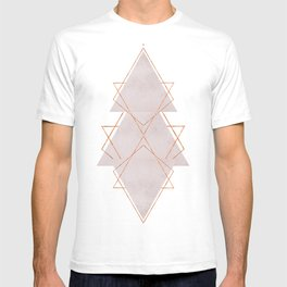 BLUSH COPPER ROSE GOLD GEOMETRIC SYNDROME T-shirt