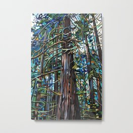 Tofino Rain Forest Painting Metal Print