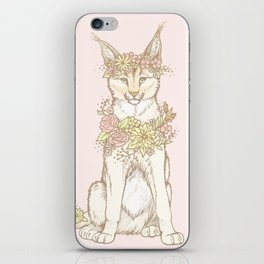 Floral Caracal iPhone Skin
