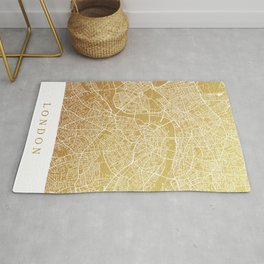 Gold London map Rug