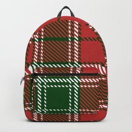 Red and Green Christmas Gingham Plaid Backpack