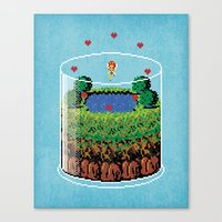hyrule Canvas Prints featuring Hyrule Terrarium by Jude Buffum