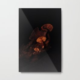 Mushroom Glow Metal Print