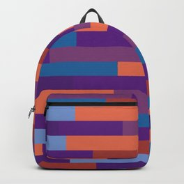 Colorful Wood Layout Geometric Patterns Backpack