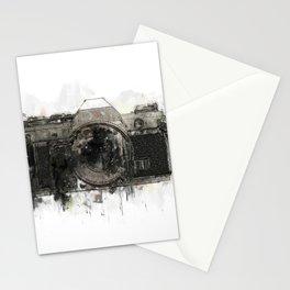 retro camera illustration / painting /drawing  2 Stationery Cards