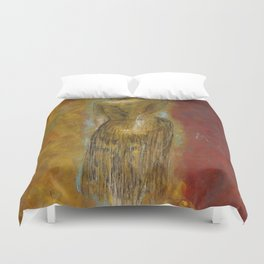 womanJapanese painting Duvet Cover