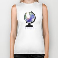 science Biker Tanks featuring Science! by Bunhugger Design
