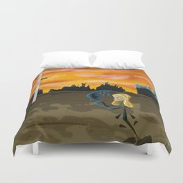 Discovery of the Obelisk Duvet Cover
