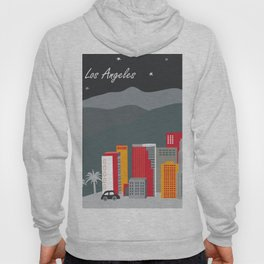 Los Angeles, California - Skyline Illustration by Loose Petals Hoody
