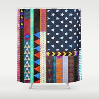 boho Shower Curtains featuring Boho America by Schatzi Brown
