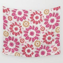 Feminine Flowers Pattern Wall Tapestry