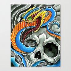 blue viper skull Canvas Print