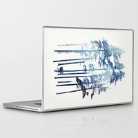 winter Laptop & iPad Skins featuring Winter Wolf by Robert Farkas