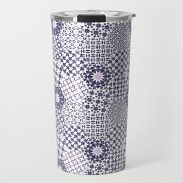 Spanish Tiles of the Alhambra - Violets Travel Mug