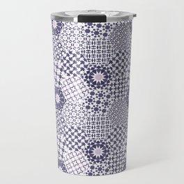 Spanish Tiles of the Alhambra - Violets Travel Mug