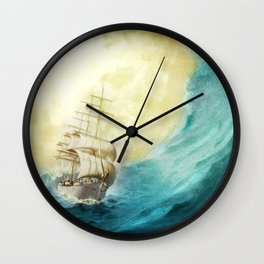 Through Stormy Waters Wall Clock