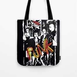 Music fans alternative punk fashion illustration. Tote Bag