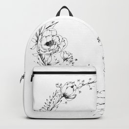Chickadee a top Botanical Wreath Backpack